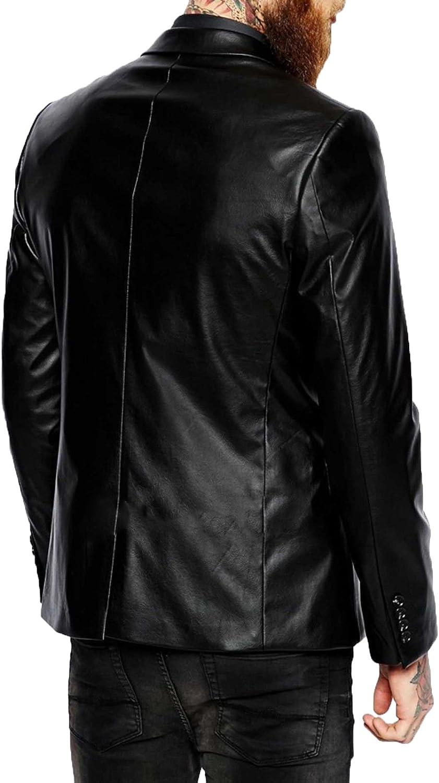RedSeam Mens Genuine Lambskin Leather Jacket Two Button Blazer Sport Coat RB015