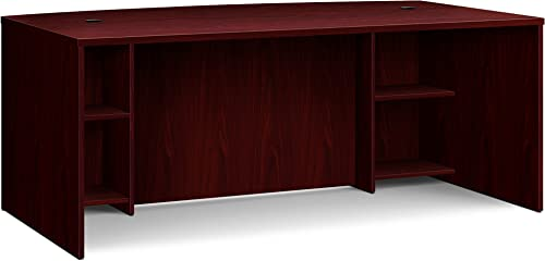 HON BL Laminate Series Office Desk Shell – Breakfront Bow Front Top Desk Shell, 72w x 42d x 29h, Mahogany HBL2111BF