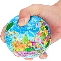 Hengzi Stress Relief Weltkarte Schaumstoffball Atlas Globus Palm Ball Planet Erde Ball (76mm)