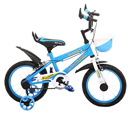 Outplayo Sports Sky Blue Bicycle for 3 to 5 Years Kids 14T (Sky and White)