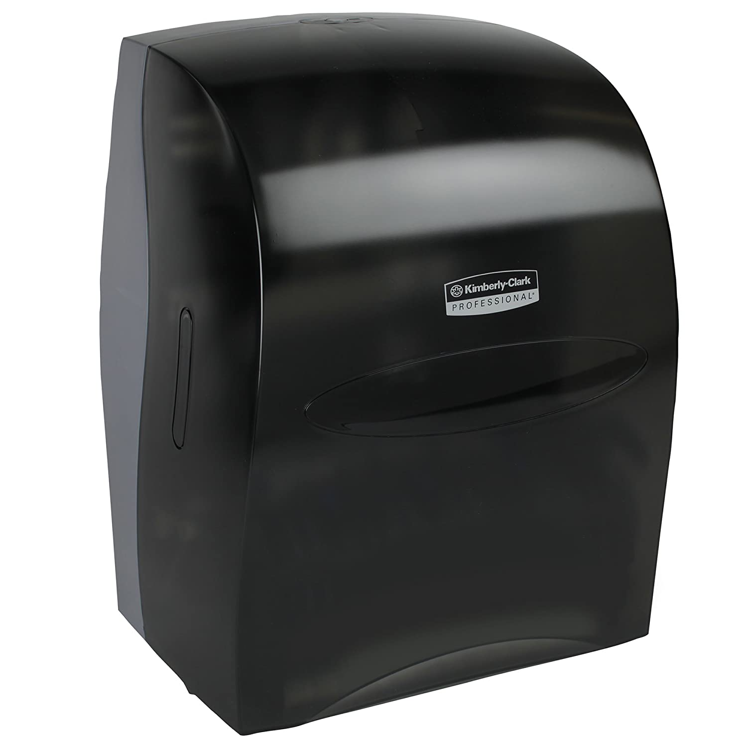 B0006VPX50 Sanitouch Hard Roll Paper Towel Dispenser (09990), Hands-Free Pull Dispensing, Smoke/Black 710liO0f-KL