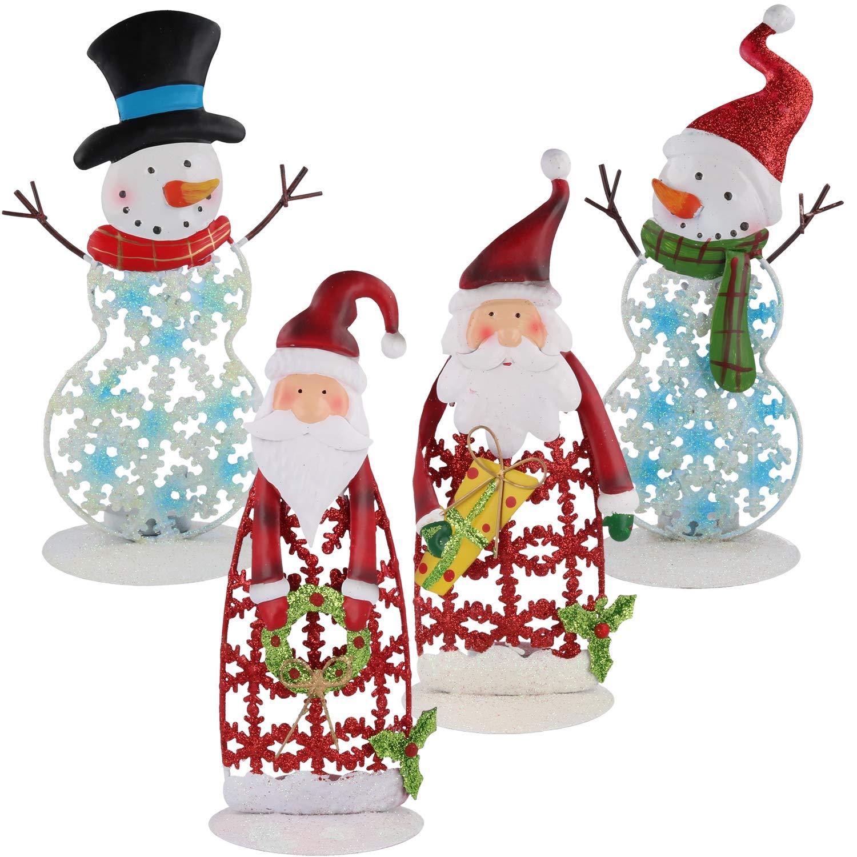 com-four® Lanterne à Del Arbre de Noël en céramique, Blanche, Environ 13,5 x 10 x 5 (01 pièce - Arbre de Noël en céramique) 5 x 10 x 5 (01 pièce - Arbre de Noël en céramique)