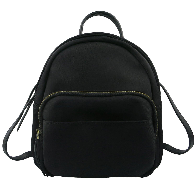 Mini Backpack for Women, Betiteto Waterproof Small Backpack Nylon Casual Travel Daypack Shoulders Bag for Girls (Black)