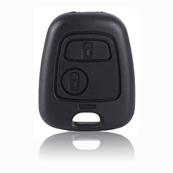CLE DE TOUS - 2 Botón Botones Carcasa Funda de Mando Llave Coche para Citroen C3 C4 Peugeot 106 107 206 207 306 307 406