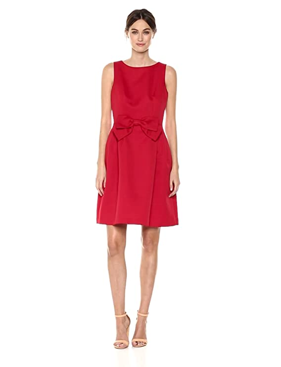 39231b13f3f Tahari by Arthur S. Levine Women s Fit and Flare Dress with Bow On Waist in  Front