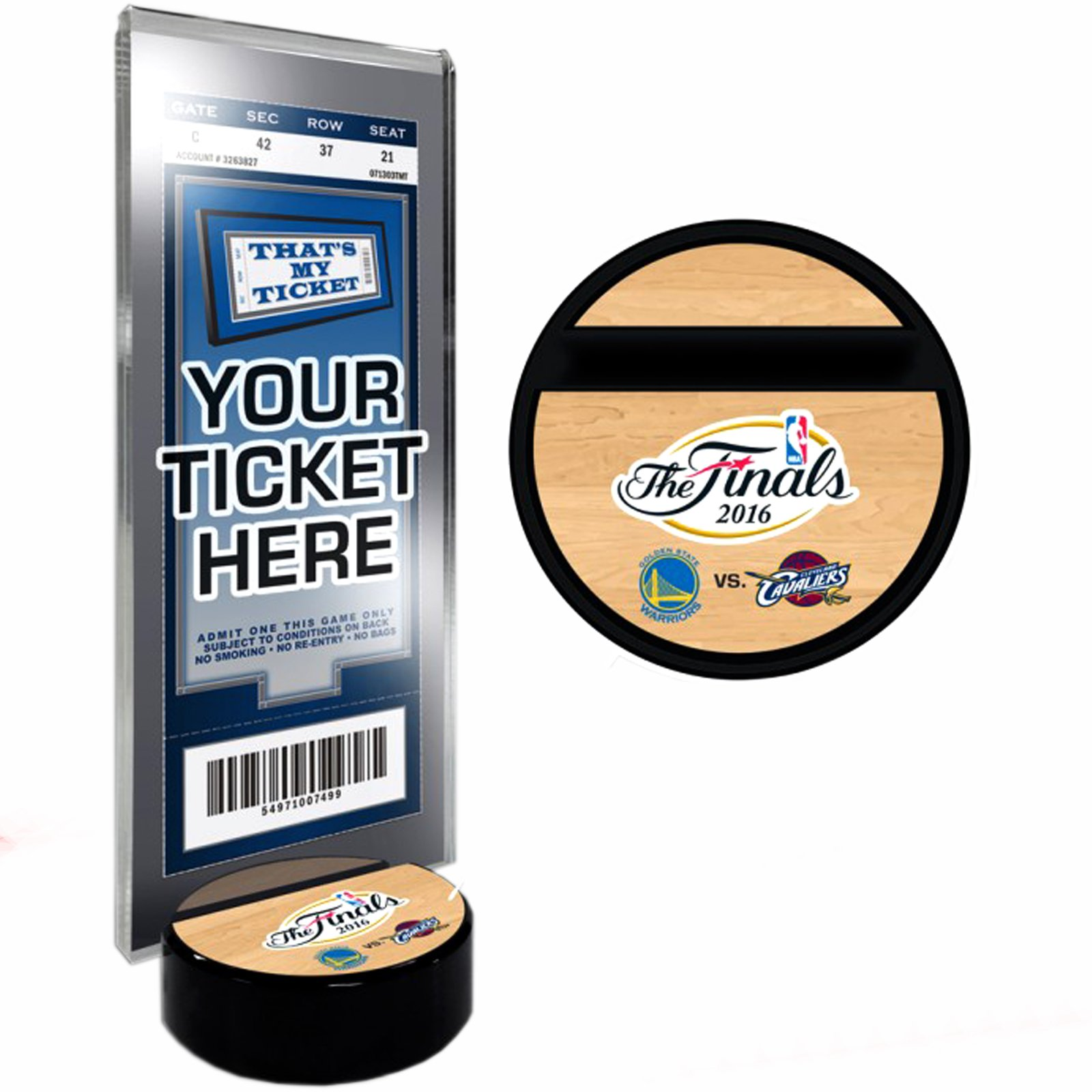 2016 NBA Finals Golden State Warriors Cleveland Cavaliers Ticket Holder by That's My Ticket
