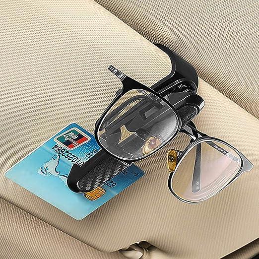 N\A Jiexue Supporto universale per occhiali da sole per auto con clip per occhiali da sole