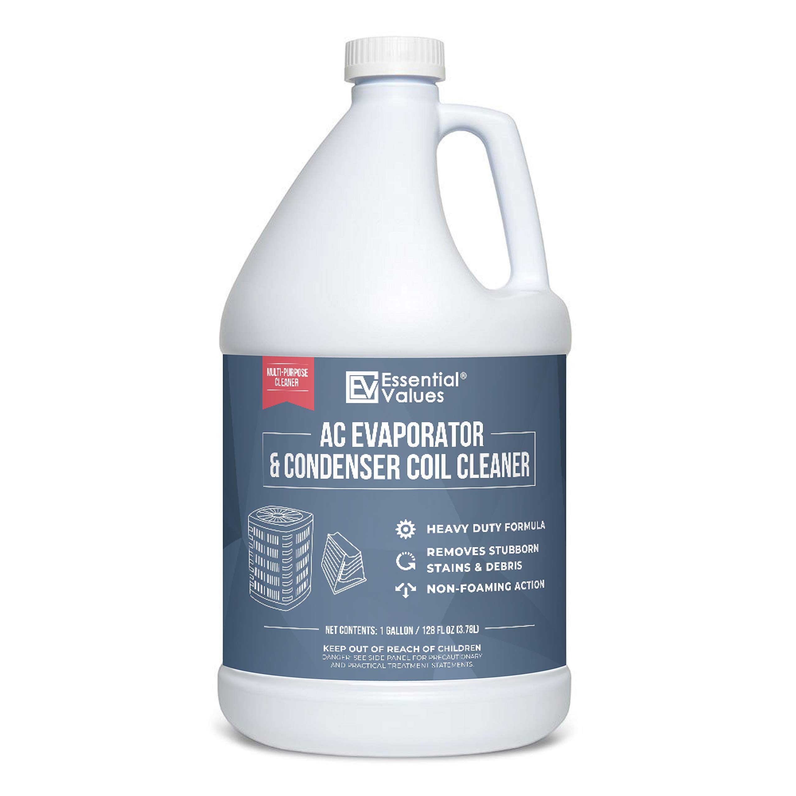 Coil Cleaner (Gallon), Made in USA | AC Coil Cleaner That is Non-Foaming Formula for Condenser Coils & MORE - Heavy Duty Professional Grade Cleaner compatible with Commercial & Residential AC Units