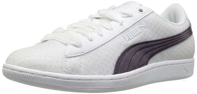 PUMA Women's Vikky Swan Fashion Sneaker B01J5R4BCQ 7.5 M US|Puma White-puma White