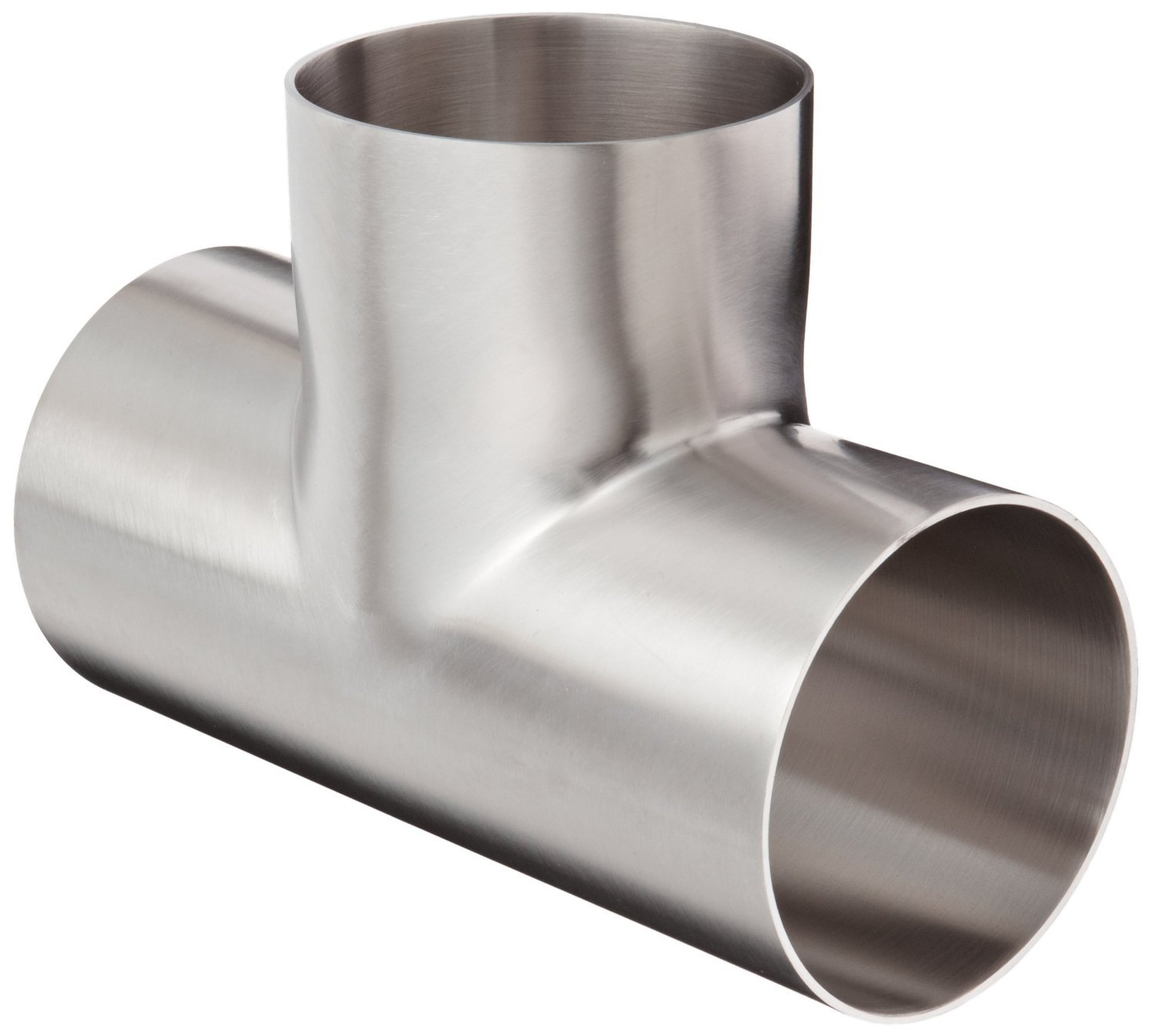 Dixon B7W-G300P Stainless Steel 304 Polished Fitting, Weld Long Tee, 3'' Tube OD