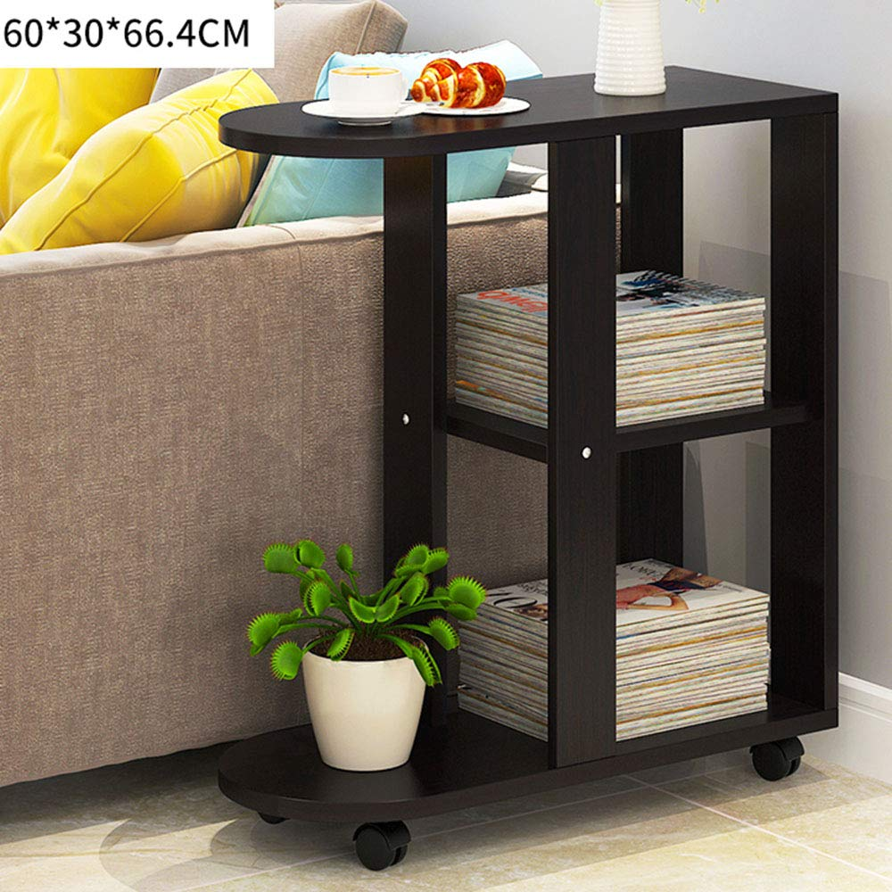 C 1  LJHA bianzhuo Side Table, Modern Reinforce Solid Wood Movable Side Table Living Room Sofa Side Cabinet Bedroom Stable Bedside Table Balcony Small Coffee Table Side Table