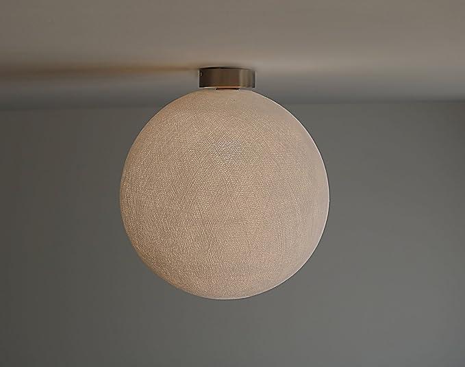 Mdf duelle lampada da soffitto con struttura in cotone sfera
