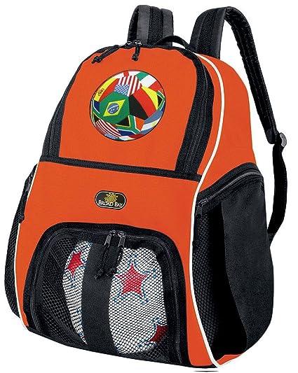 7b74e6999 Amazon.com : Broad Bay Soccer Ball Backpack or Volleyball Bag Orange ...