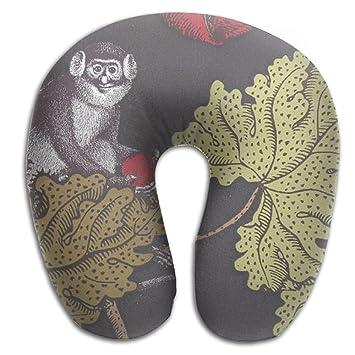 Mono árbol cómodo sin aroma avión cuello almohada en forma de U de espuma de memoria