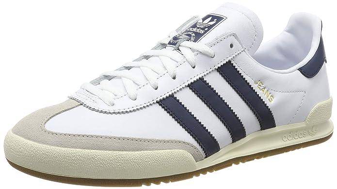 adidas Jeans Schuhe Herren weiß m. schwarzen Streifen