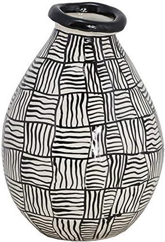 TIC Collection Accra Vase, White Black
