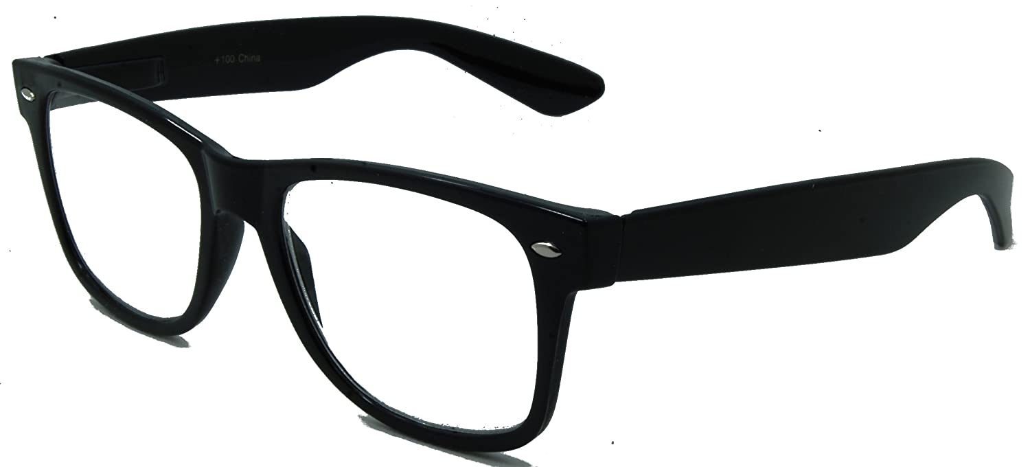 a29fac897aa4 Amazon.com  In Style Eyes Nice Looking Retro Readers for Women and Men  Black 3.50  Clothing