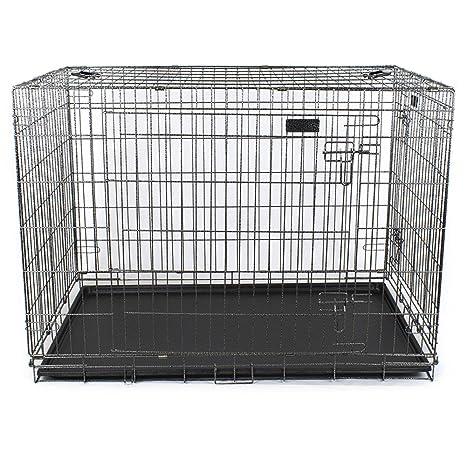 Jaula para perros Box Perros Plegable Transportín XL 107 x 70 x 78 ...