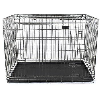 Jaula plegable para perros Box Transportín Perros XXL 120 x 74,5 x ...
