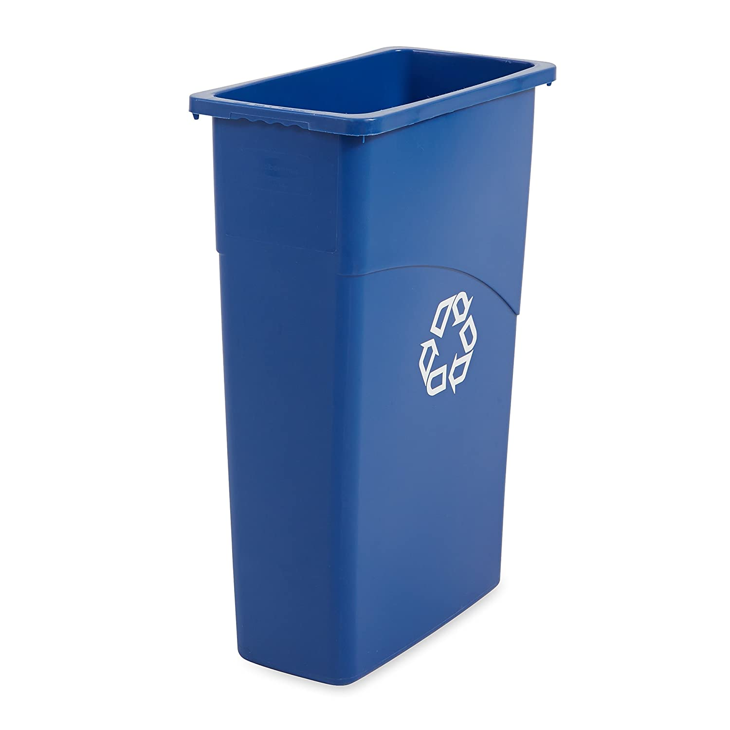 Amazon.com: Rubbermaid Slim Jim Waste Container, 87 L - Blue ...