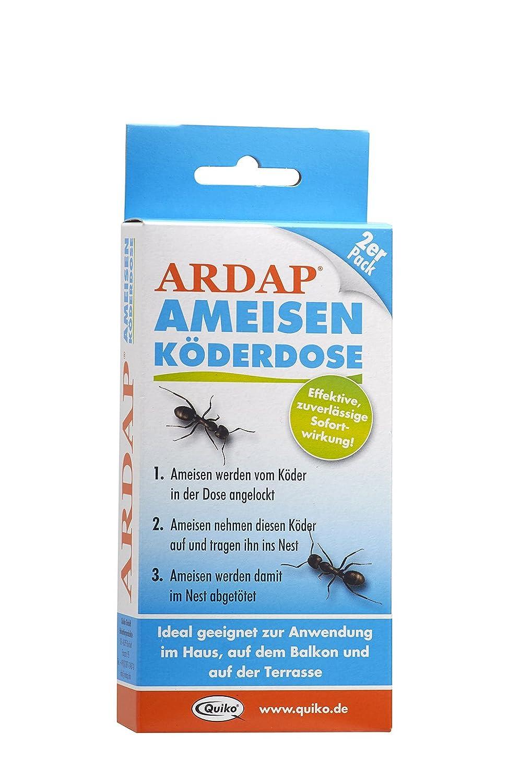 ARDAP Ameisen Köderdose – Köderstoffe speziell für die Bekämpfung von Ameisen & anderem Ungeziefer im Innen- und Außenbereich – 2er Pack Quiko 077486