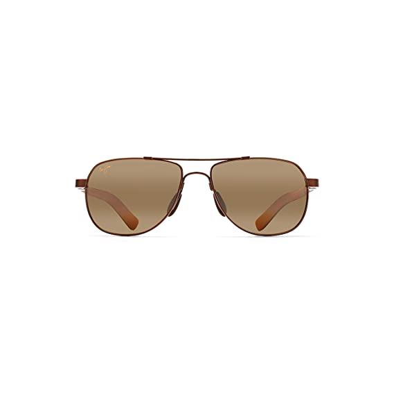 560e255ec0 Maui Jim H327-23 Copper with Tan Guardrails Aviator Sunglasses Polarised  Drivin  Amazon.co.uk  Clothing