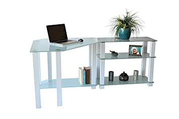 RTA Home and Office CT-01302W - Escritorio esquinero de Cristal ...