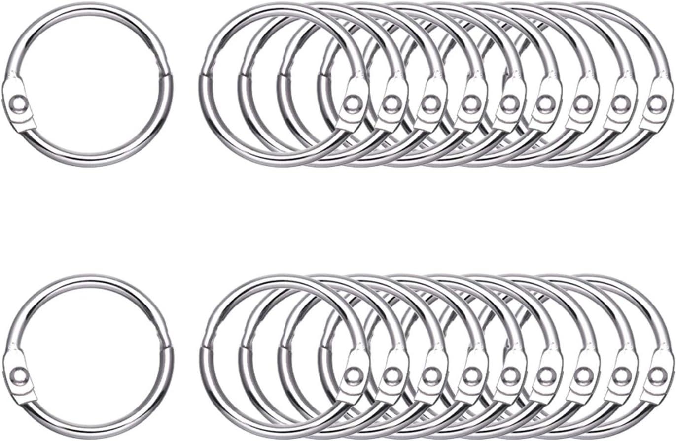 Antner 100Pcs Loose Leaf Rings, 0.75