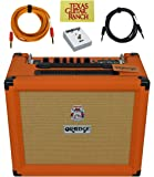 Orange Amps Rocker 15 Guitar Combo Amplifier with Footswitch Cable Bundle