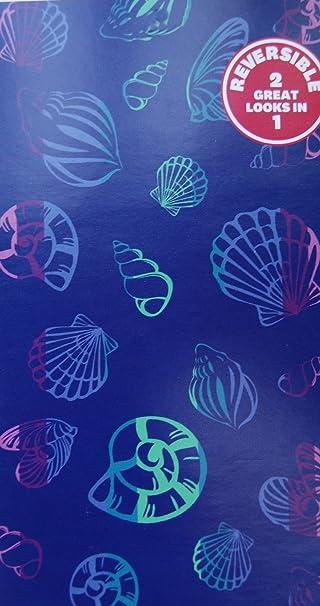 Better Homes And Gardens Oversized Beach Towel   Blue Ocean Shells  (40u0026quot; ...