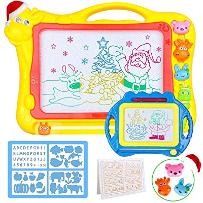Magnetic Drawing Board for Kids - Large 17Inch Toddler Colorful Magna Doodle Pad with a Travel Size Etch Sketch Writing Board Pro with Magnet Pen, Child Education Learning Toys & Gifts for Boys Girls: Toys & Games