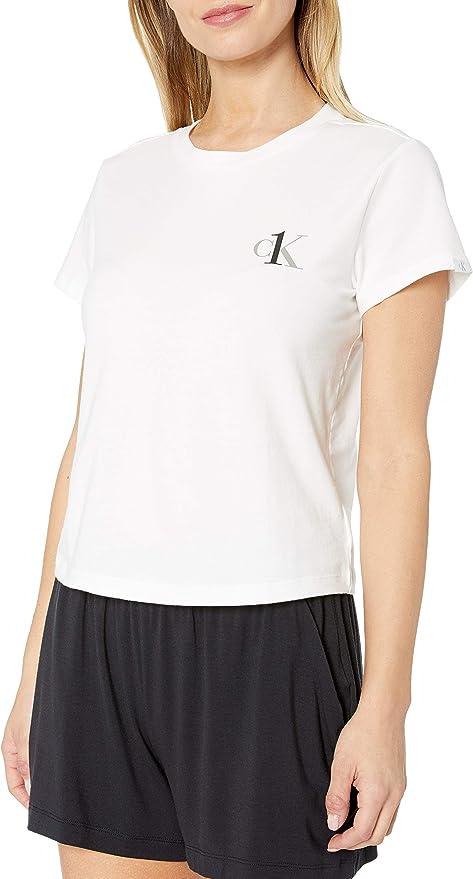 Calvin Klein 卡尔文克莱因 CK 女式圆领短袖T恤 2.6折$15 海淘转运到手约¥143