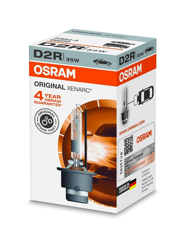 100/% 4150K di luce in pi/ù in Confezione singola OSRAM XENARC ORIGINAL D2R Lampada per proiettori allo Xeno 66250