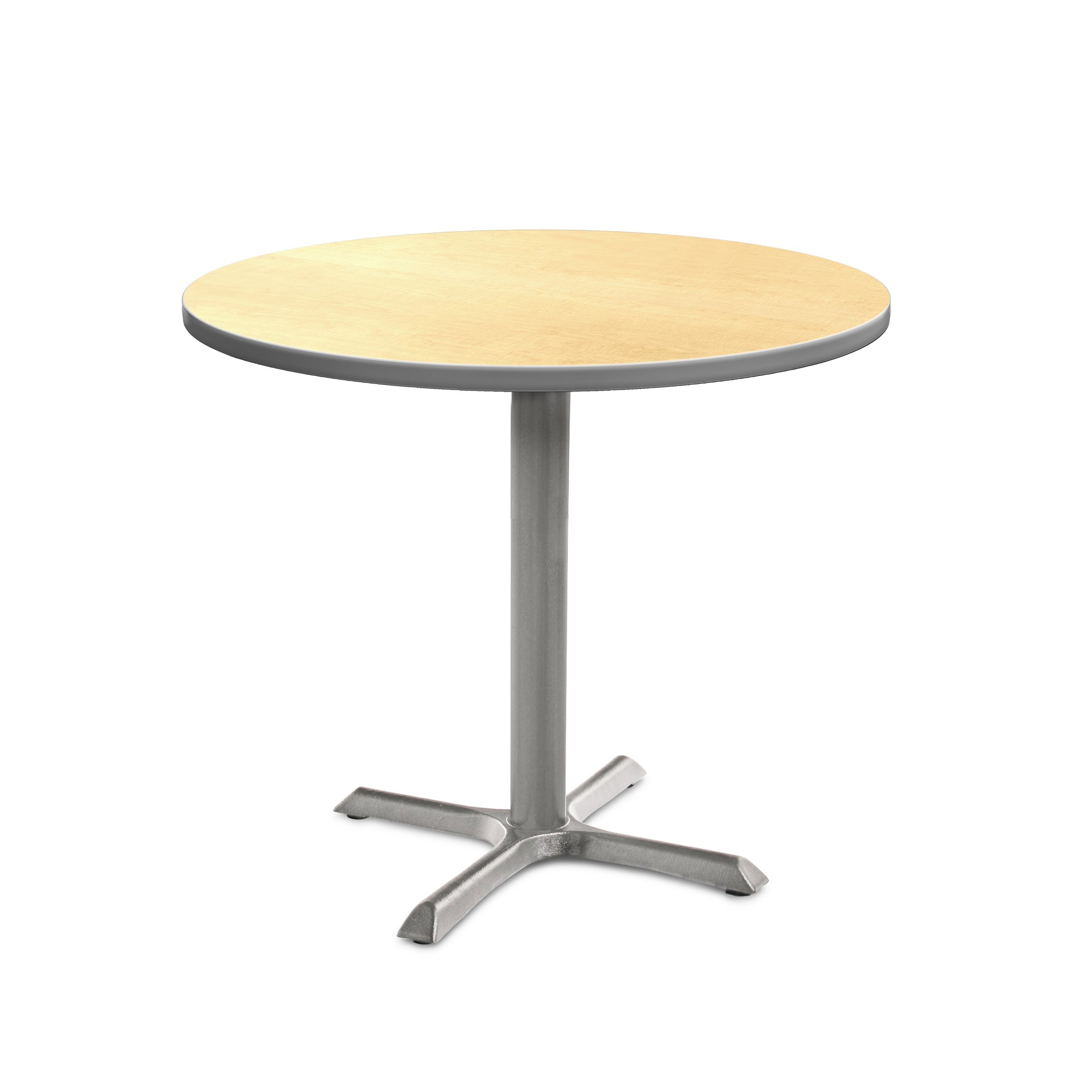 Marco Group MG2543-61-129GY 2500 Series Café Table, Fusion Maple Top with Gray Edge, Gray Pedestal Base, 29'' Height, 30'' Round