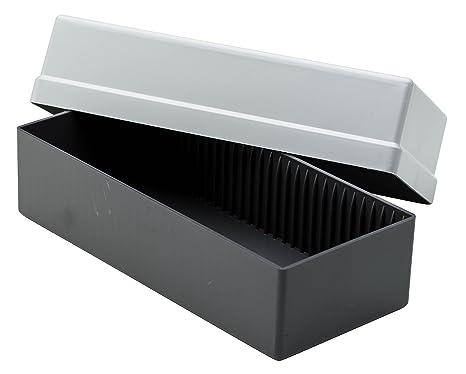 Gepe GP3701 - Caja de almacenamiento para diapositivas, color gris
