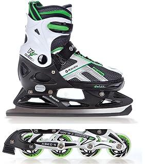 7c7891b058e Raven 2in1 Schlittschuhe Inline Skates Inliner Pulse Black/Green verstellbar