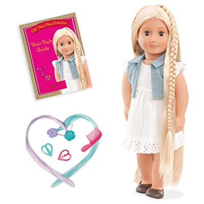 "Our Generation Phoebe-Hair Grow Doll 18"" Doll: Toys & Games"