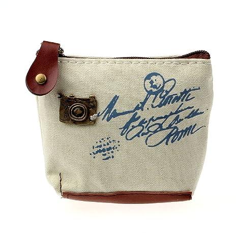 Malloom®chica Retro bolso de la moneda monedero de la cartera Card Case bolso regalo (beige(beige))