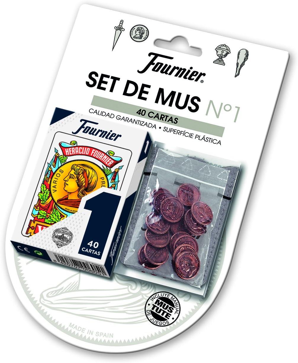 Fournier- Set Blister Baraja de Cartas Española y Amarracos con manual de Mus y Tute, Multicolor (174916) , color/modelo surtido: Amazon.es: Juguetes y juegos