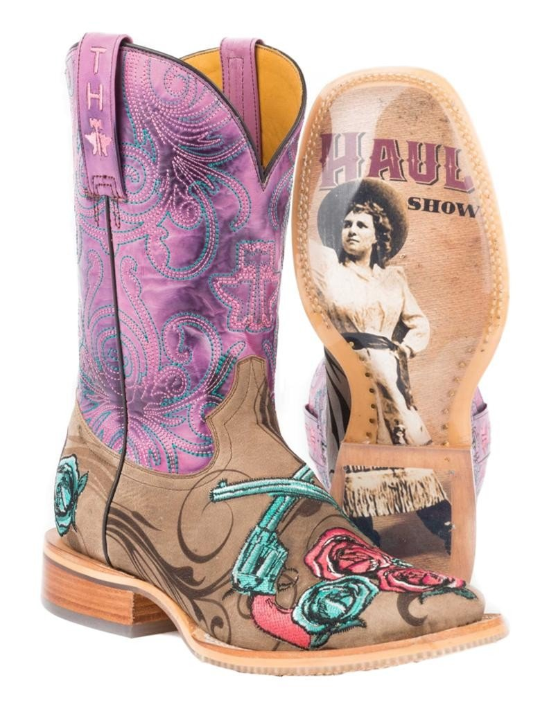 Tin Haul Shoes Women's Sure Shot Western Boot B06XH5ZMLW 5.5 D US|Tan