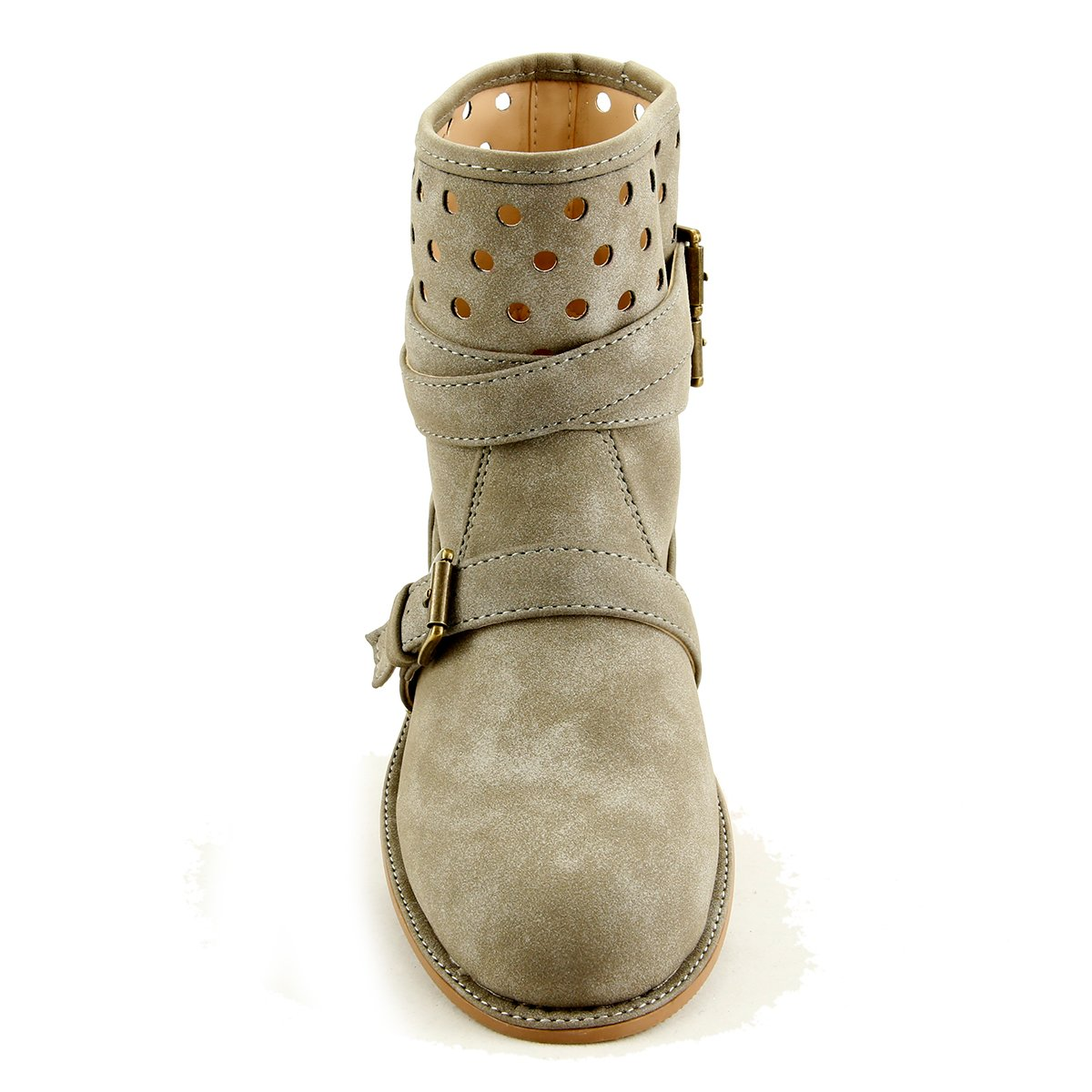 Girls Stylish Fashion Suede Wrap Boot Ankle Booties Toddler Youth size 07, Gray