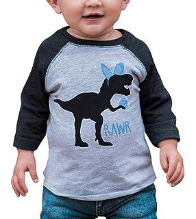 b98d2138 Amazon.com: 7 ate 9 Apparel Boy's Easter Dinosaur T-Shirt: Clothing