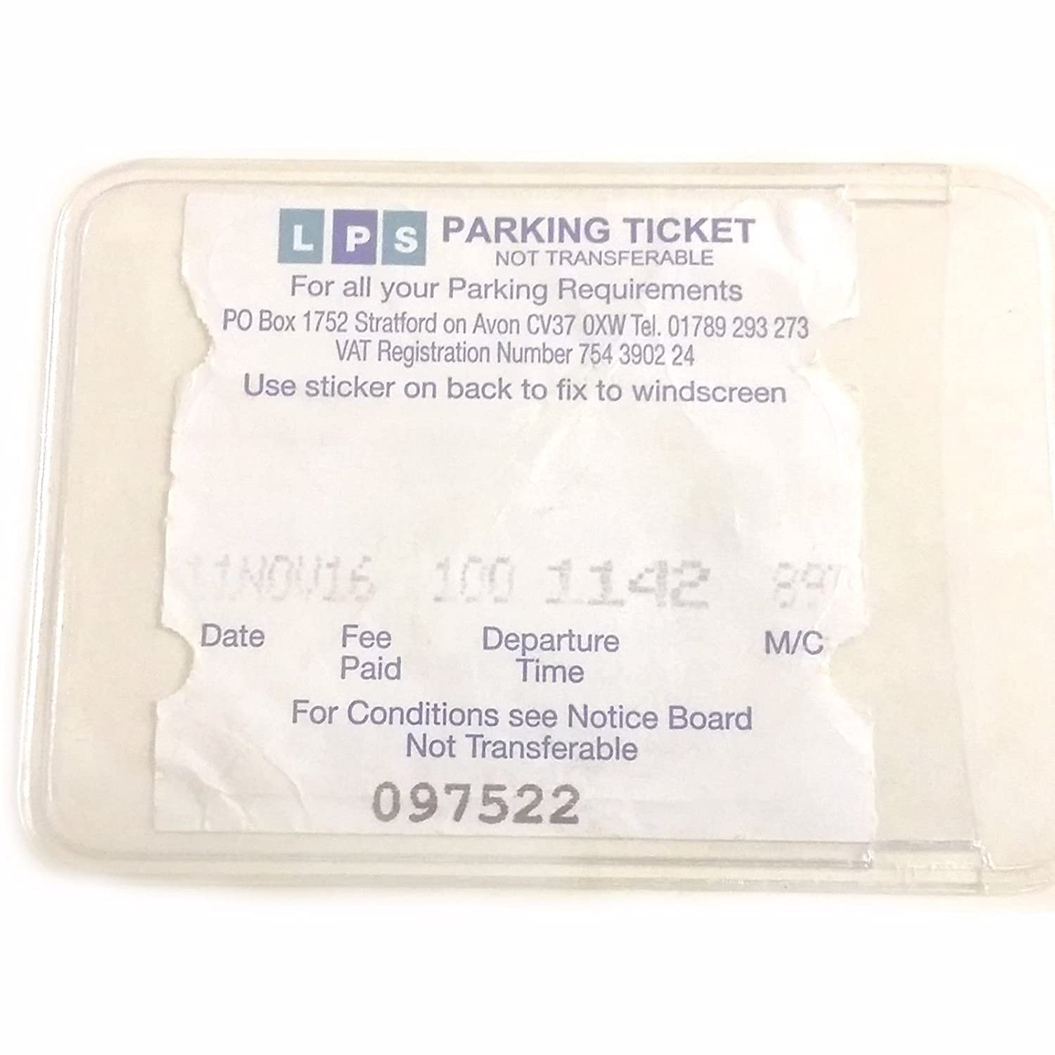 Self Adhesive Backed Windscreen Parking Ticket Permit Card Holder (2) Family Motoring & Leisure