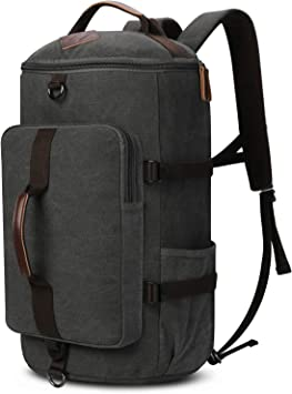 Backpacks For leisure Outdoor Travel Bag Canvas Backpack Casual Rucksack for Men Coffee