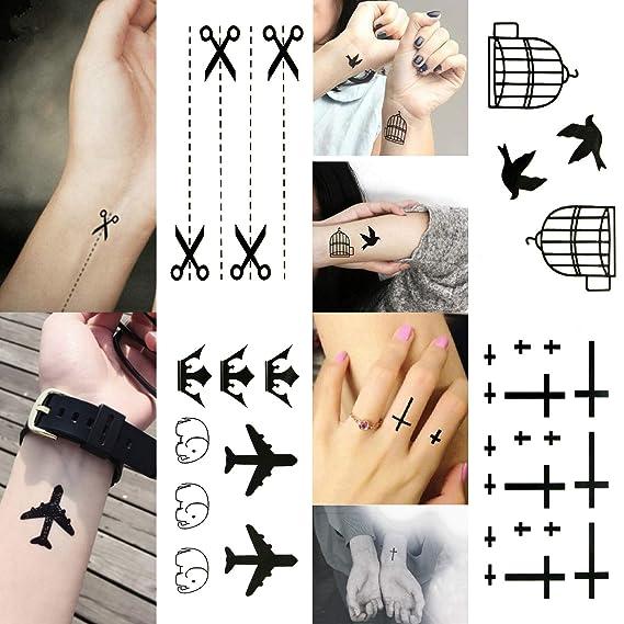 Oottati 30 Hojas Tatuaje Temporal Tattoo Pequeña Cámara Impresión ...