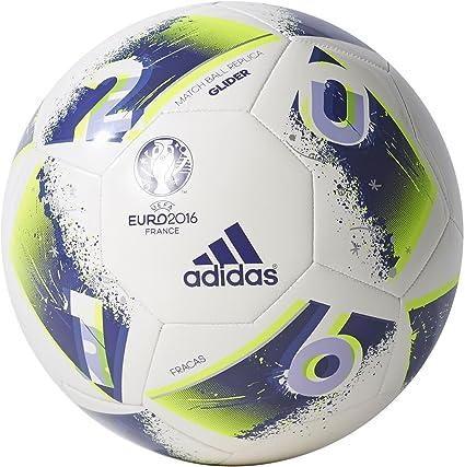 adidas Euro16 Glider Balón de fútbol, Hombre, (Blanco/Purpur ...