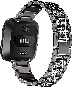 Amazon.com: Bayite Bling Bandas compatibles con Fitbit Versa ...