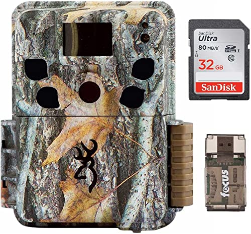 Browning Dark Ops HD Pro Trail Camera BTC-6HDP 18 Megapixels, Camo 32Gb Card with Focus Reader