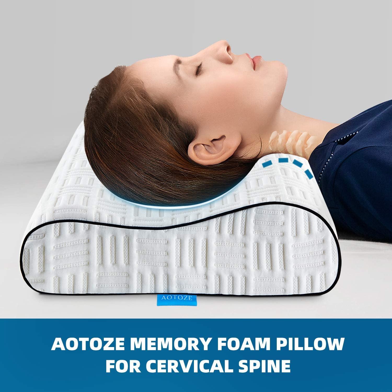 Almohadas Ortopedicas Ortopédica De Memory Foam Cervical Apoyo Para Cuello