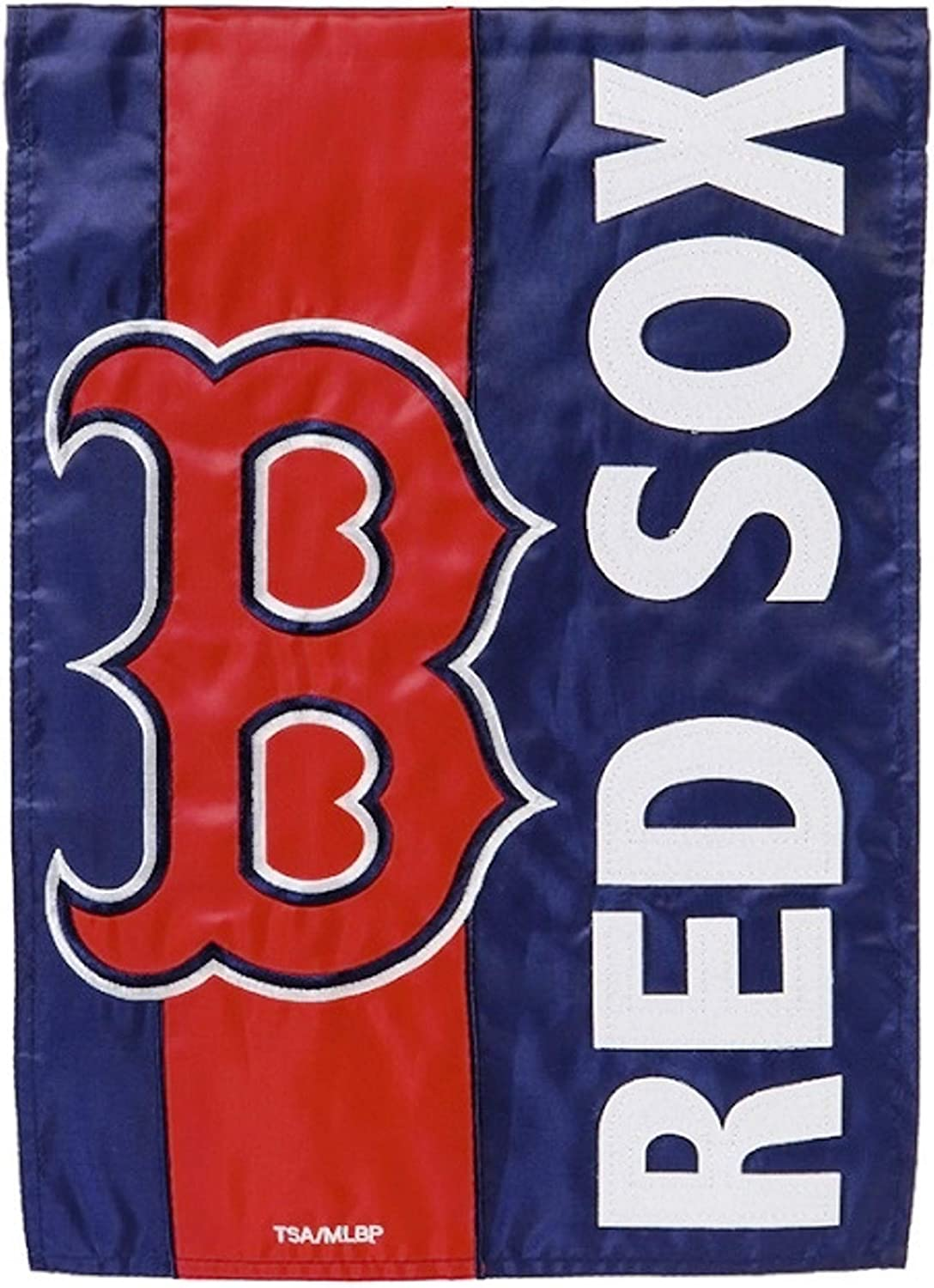 Rico Industries, Inc. Boston Red Sox Embellished Premium 2-Sided Garden Flag Applique Embroidered Outdoor House Banner Baseball